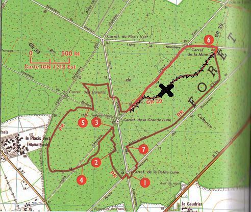 Carte du parcours de la rando