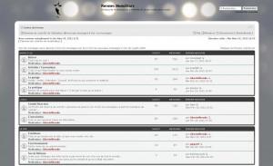 capture d'écran du nouveau forum