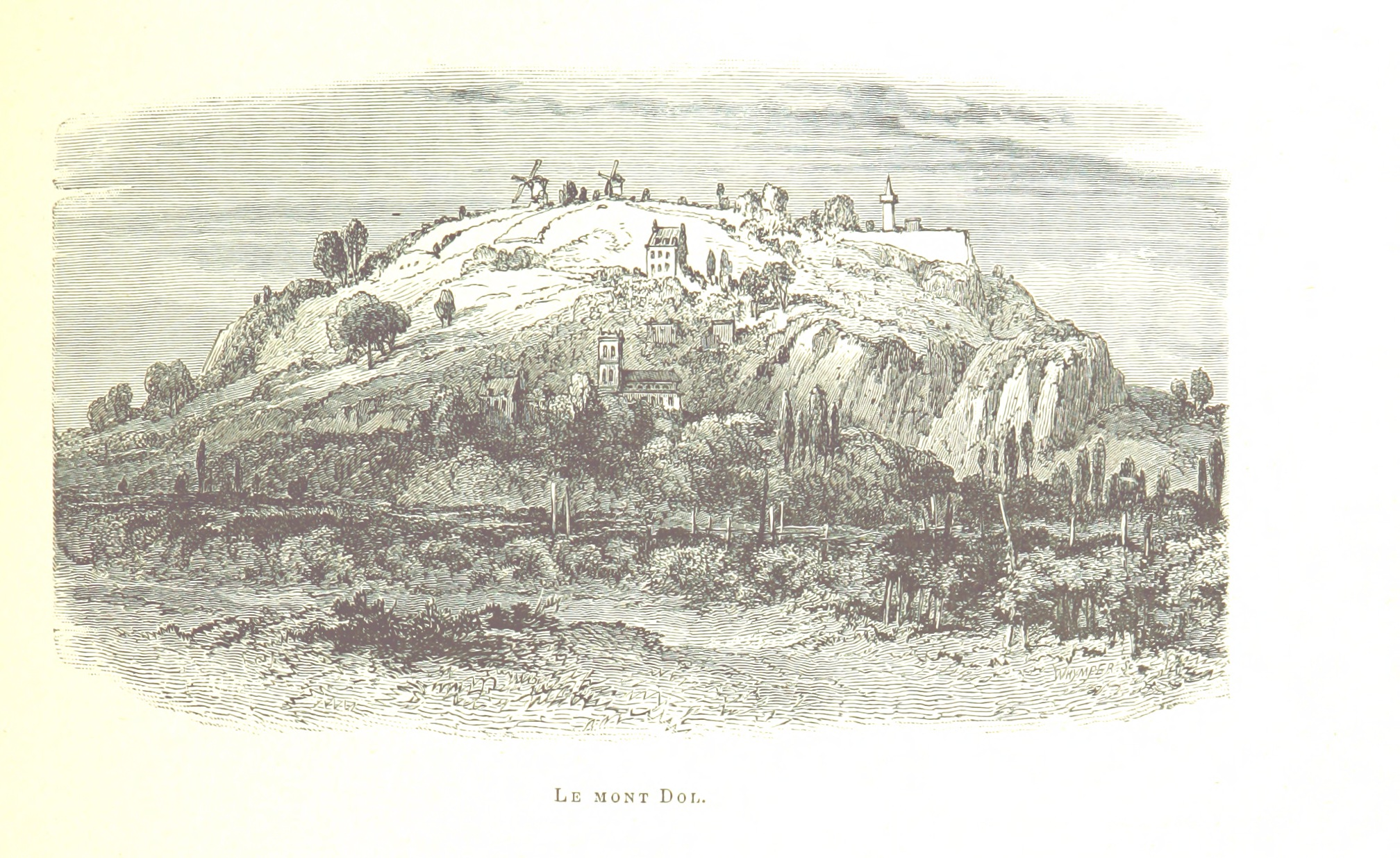Illustration du mont Dol prise de La France pittoresque. Ouvrage illustré, etc