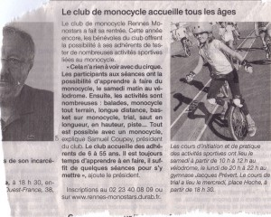 Article Ouest-France 2013-10-09