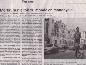 Article Ouest-France 2014-09-06