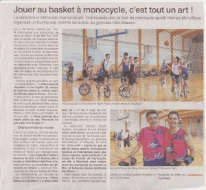 Article Ouest-France 2014-09-28